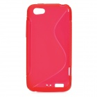 Protective TPU Back Case for HTC One V - Deep Red