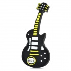 Novelty Silicone Guitar Style USB 2.0 Flash Drive - Black (16GB)