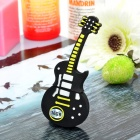 Novidade Silicone Guitarra Style USB 2.0 Flash Drive - Black (16GB)
