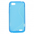 Protective TPU Back Case for HTC One V - Blue