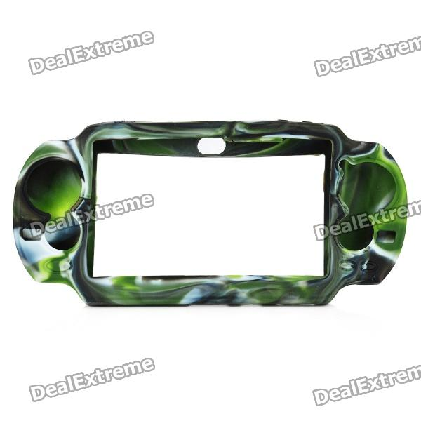 Protective Silicone Case for Sony PS Vita - Camouflage Green + Black protective silicone case for xbox one controller camouflage green