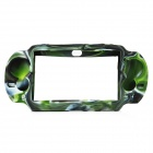 Protective Silicone Case for Sony PS Vita - Camouflage Green + Black