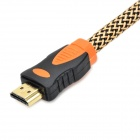 HDMI V1.4 HDMI Male to Male Connection Cable - Beige + Black (300cm)