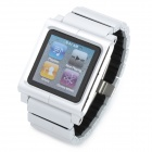Wrist Watch Style Protective Aluminum Alloy Case with Band for iPod Nano 6 - Silver