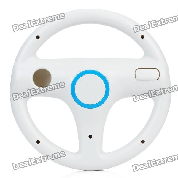 Plastic Racing Wheel Controller for Wii - White