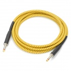 Instrument Guitar Bass Audio Connection Cable - Yellow + Brown (3M-Length)