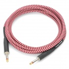 Instrument Guitar Bass Audio Connection Cable - Red + White (3M-Length)