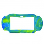 Protective Silicone Case for Sony PS Vita - Camouflage Blue + Green