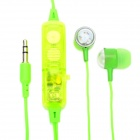 Stilvolle-Multicolor-LED Transparente In-Ear-Stereo-Ohrhörer - Green (3,5 mm-Stecker / 2 x AG5)