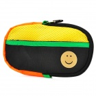 Portable Padded Cotton Fabric Carrying Bag for Sony PSP Series - Black + Yellow