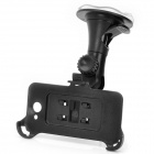 Car Swivel Suction Cup Mount Holder + Car Charger w/ Retractable Cable Set for HTC ONE X / S720E