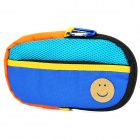 Portable Padded Cotton Fabric Carrying Bag for Sony PSP Series - Blue + Orange