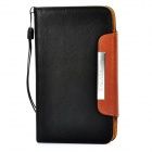 KALAIDENG Protective PU Leather Flip-Open Case for Samsung i9220 - Black + Brown