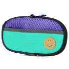 Portable Padded Cotton Fabric Carrying Bag for Sony PSP Series - Green + Purple