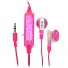 Stylish Multi-Colored LED Transparent In-Ear Stereo Earphone - Deep Pink (3.5mm-Plug / 2 x AG5)