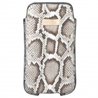Fitcase Python Skin Pattern Protective Genuine Leather Case for Iphone 4 / 4S / Ipod Touch 4 - Grey