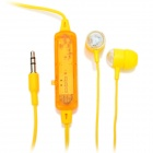 Stylish Multi-Colored LED Transparent In-Ear Stereo Earphone - Yellow (3.5mm-Plug / 2 x AG5)