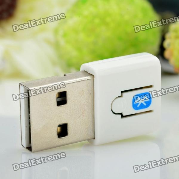 p bd  mini bluetooth v usb dongle white
