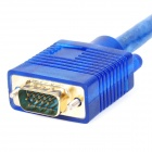 Gold-plated VGA Male to Male Connection Cable - Transparent Blue (10m)