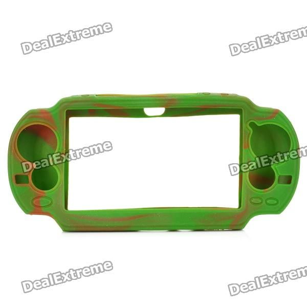 Protective Silicone Case for Sony PS Vita - Camouflage Green + Brown protective silicone case for xbox one controller camouflage green