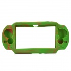 Protective Silicone Case for Sony PS Vita - Camouflage Green + Brown
