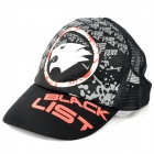 Cool Outdoor Cross Fire Black List Pattern Hat Cap - Black + White + Grey + Red