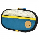 Portable Padded Cotton Fabric Carrying Bag for Sony PSP Series - Dark Blue + Beige