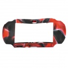 Protective Silicone Case for Sony PS Vita - Camouflage Red + Grey