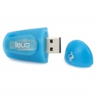 Mini iBUG 2-Mode USB Charging White Light LED Flashlight - Blue