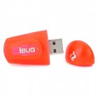 Mini iBUG 2-Mode USB Charging White Light LED Flashlight - Red