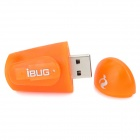 Mini iBUG 2-Mode USB Charging White Light LED Flashlight - Orange