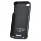 1600mAh Battery Charger Case with FM Transmitter for iPhone 4 / 4S - Black