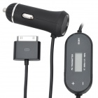 "0.8"" LCD Car Radio FM Transmitter w/ Controller / Charger for iPhone 3G / 4 / 4S + More - Black"