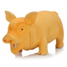 Stress Reliever Squeeze Pig Toy with Realistic Sound Effect - Yellow