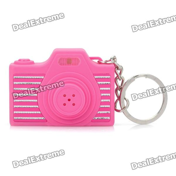 Mini Camera Shape Keychain with Digital Time Display and Shutter's Sound & Flash - Pink (1 x LR41) minions mini flashlight keychain with sound