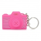 Mini Camera Shape Keychain with Digital Time Display and Shutter's Sound & Flash - Pink (1 x LR41)