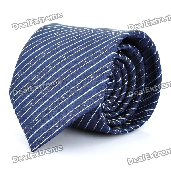 Fashion Blue Strip Men's Decoration Neck Tie - Blue fashion blue purple stripe men s decoration neck tie blue purple