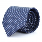 Fashion Blue Strip Men's Decoration Neck Tie - Blue