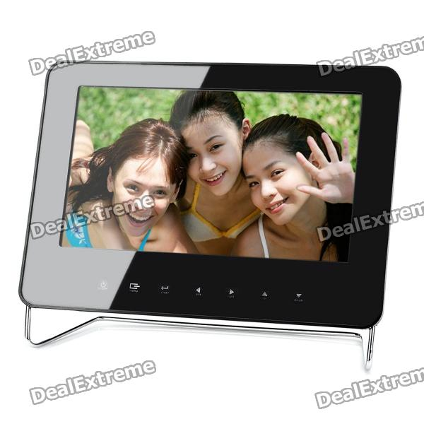 "7"" Touch Buttons Digital Photo Frame w/ SD / USB - Black (480 x 234)"