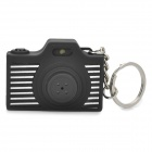 Mini Camera Shape Keychain with Digital Time Display and Shutter's Sound & Flash - Black (1 x LR41)