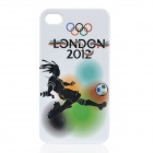 London 2012 Olympics Sports Pattern Protective Back Case for iPhone 4 / 4S - Football