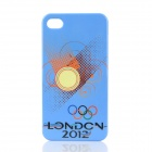 London 2012 Summer Olympics Theme Protective Plastic Back Case for iPhone 4 / 4S - Blue