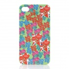 Colorful London 2012 Olympics Logos Pattern PC Back Case for iPhone 4 / 4S