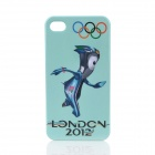 London 2012 Summer Olympics Mascot Mandeville Pattern Protective PC Case for iPhone 4 / 4S - Blue