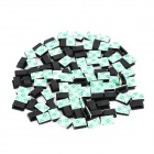 Cable Wire Clip Fixed Mount with Self-Adhesive Tape - Green + Black (100-Piece-Pack)