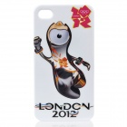 London 2012 Summer Olympics Mascot Wenlock Pattern PC Back Case for iPhone 4 / 4S - White