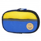 Portable Padded Cotton Fabric Carrying Bag for Sony PSP Series - Blue + Yellow