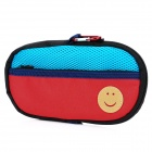 Portable Padded Cotton Fabric Carrying Bag for Sony PSP Series - Red + Blue