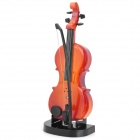 Mini Violin Model Musical Toy with Built-in Music - Brown (2 x AA)