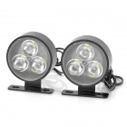 6W 98LM 6000K 6-LED White Light Car Daytime Running Light Lamp (12V / Pair)